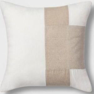Colorblock Square Throw Pillow Neutral